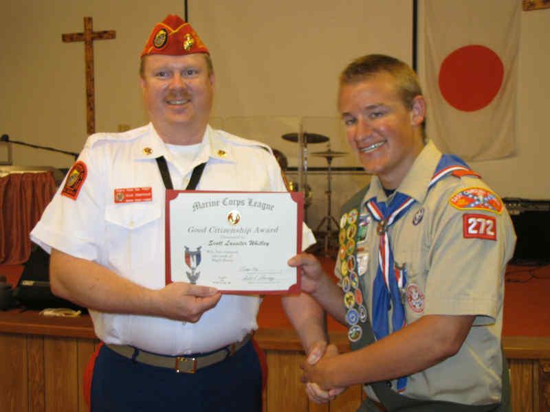 Cherry Point Detachment 1067 Marine Corps League Eagle Scout Award